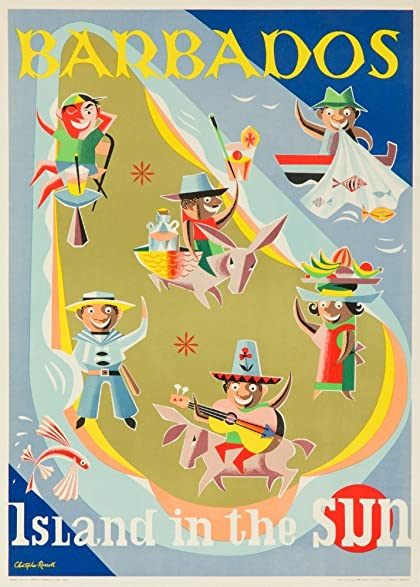 Amazon.com: Barbados Vintage Poster (artist: Russell) England c ...