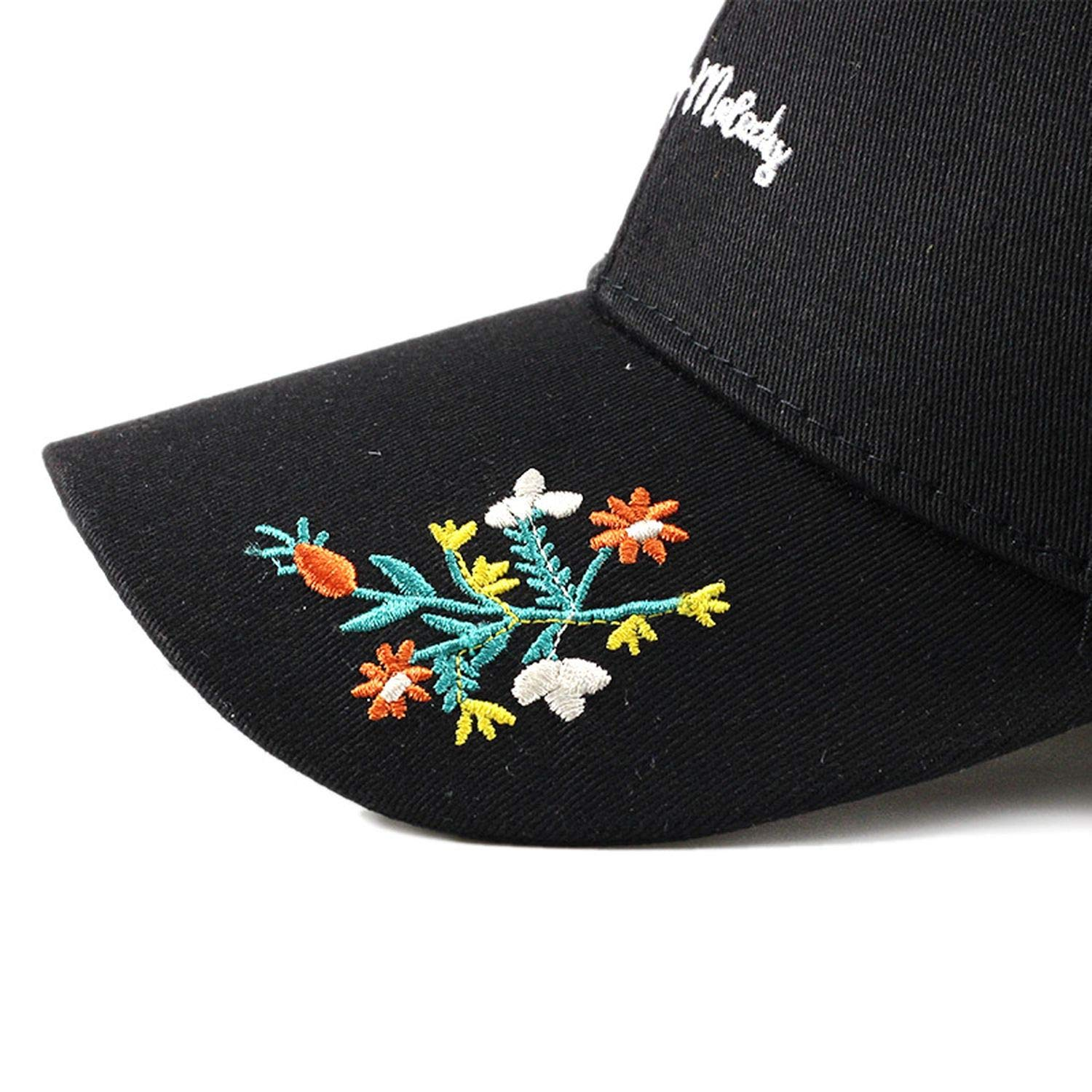 Lady Embroidered Baseball Caps Temperament Wildflower Visor Hip Hop Cap Flower Fashion Casual Beautiful Hat