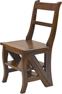product image for Carolina Chair & Table Benjamin Library Ladder Chair, Chestnut