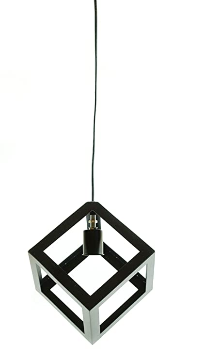 Buy industrial cube pendant neat interior ceiling lamp the black industrial cube pendant neat interior ceiling lamp the black steel aloadofball Choice Image