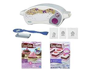 Easy Bake Oven Star Edition + Red Velvet Cupcakes + Red Velvet and Strawberry Cakes Refill. Set of 3 Items