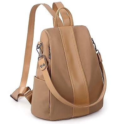 d931f25b1252 UTO Women Backpack Purse Waterproof Nylon Anti-Theft Rucksack Lightweight  School Shoulder Bag-Large