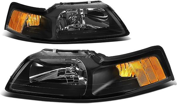 DNA Motoring HL-OH-028-BK-AM Headlight Driver /& Passenger Side