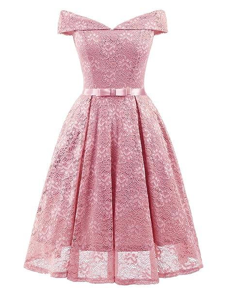 14c2290bf0 Zehui Vestido elegante de encaje de mujer