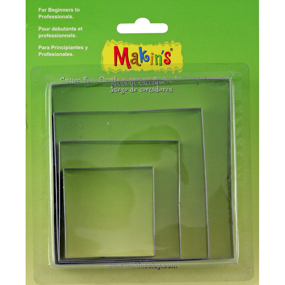 Makin's USA M365-02 Makin's Clay Cutters 4/Pkg-Square Makin' s USA
