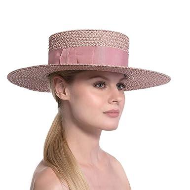 Eric Javits Luxury Women s Designer Headwear Hat - Gondolier - Blush 4cdbaeed37d