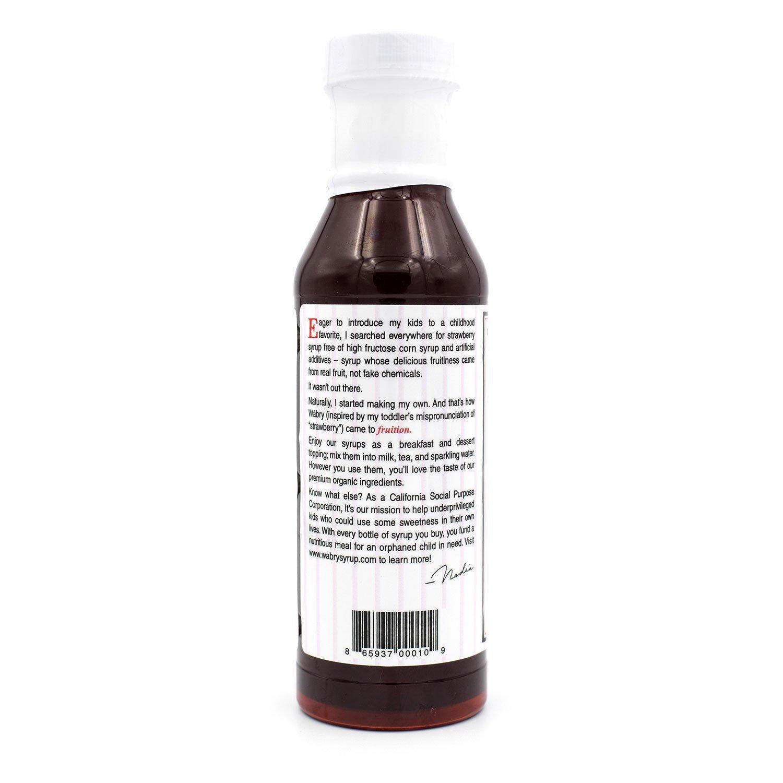 Amazon.com : Wäbry Organic Syrup 14.9 oz (Strawberry) : Grocery & Gourmet Food