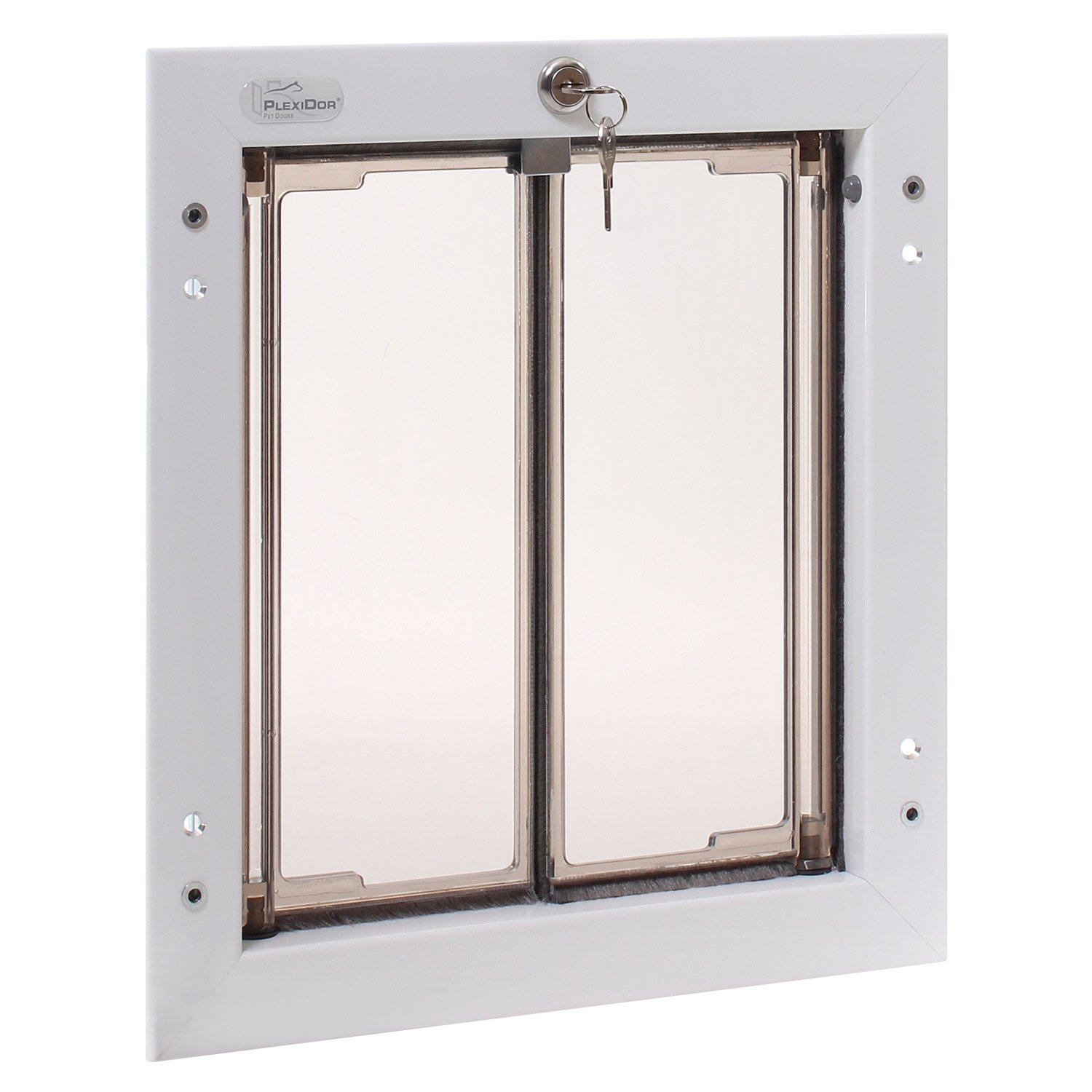 Amazon.com  PlexiDor Performance Pet Doors Medium White Wall Mount  Plexidoor Dog Door  Pet Supplies  sc 1 st  Amazon.com & Amazon.com : PlexiDor Performance Pet Doors Medium White Wall Mount ...