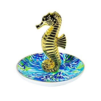 Amazoncom Lilly Pulitzer Ring Holder Dish Wade and Sea Home