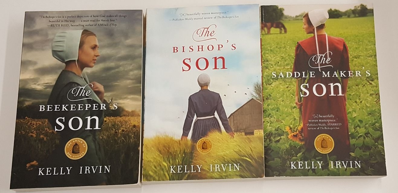 The Amish of Bee County Trilogy - The Beekeeper's Son, The Bishop's Son,  and The Saddle Maker's Son: Kelly Irvin: Amazon.com: Books
