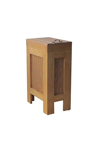 Genial Wood Wooden Trash Bin Kitchen Garbage Can 13 Gallon, Recycle Bin, Dog Food  Storage