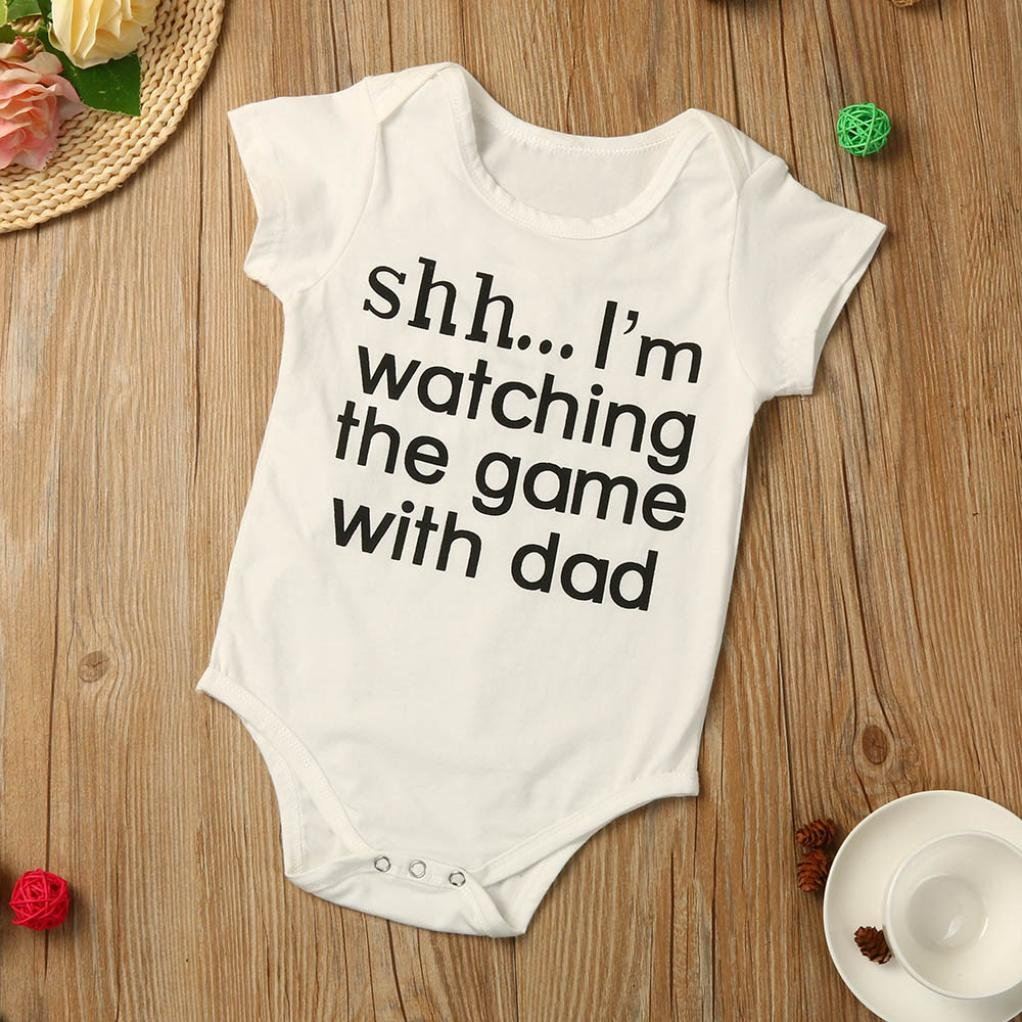 Baby Boy Romper,OSYARD Novelty Infant Letters Printing Romper Jumpsuit