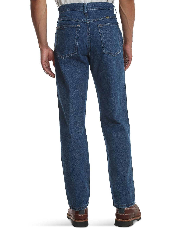 6ad4d70f Rustler By Wrangler Mens Regular Fit Straight Leg Med Blue Stonewash Denim  Jeans Men's Clothing