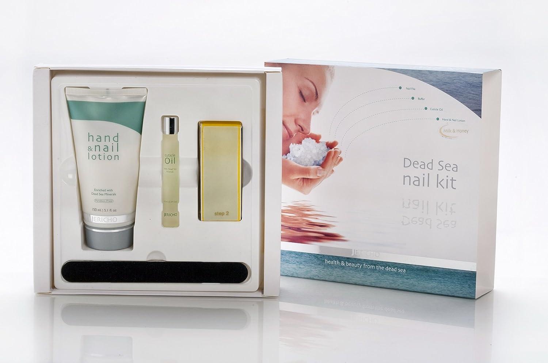 Amazon.com : Jericho Dead Sea Nail Kit Includes Hand Lotion (Milk ...