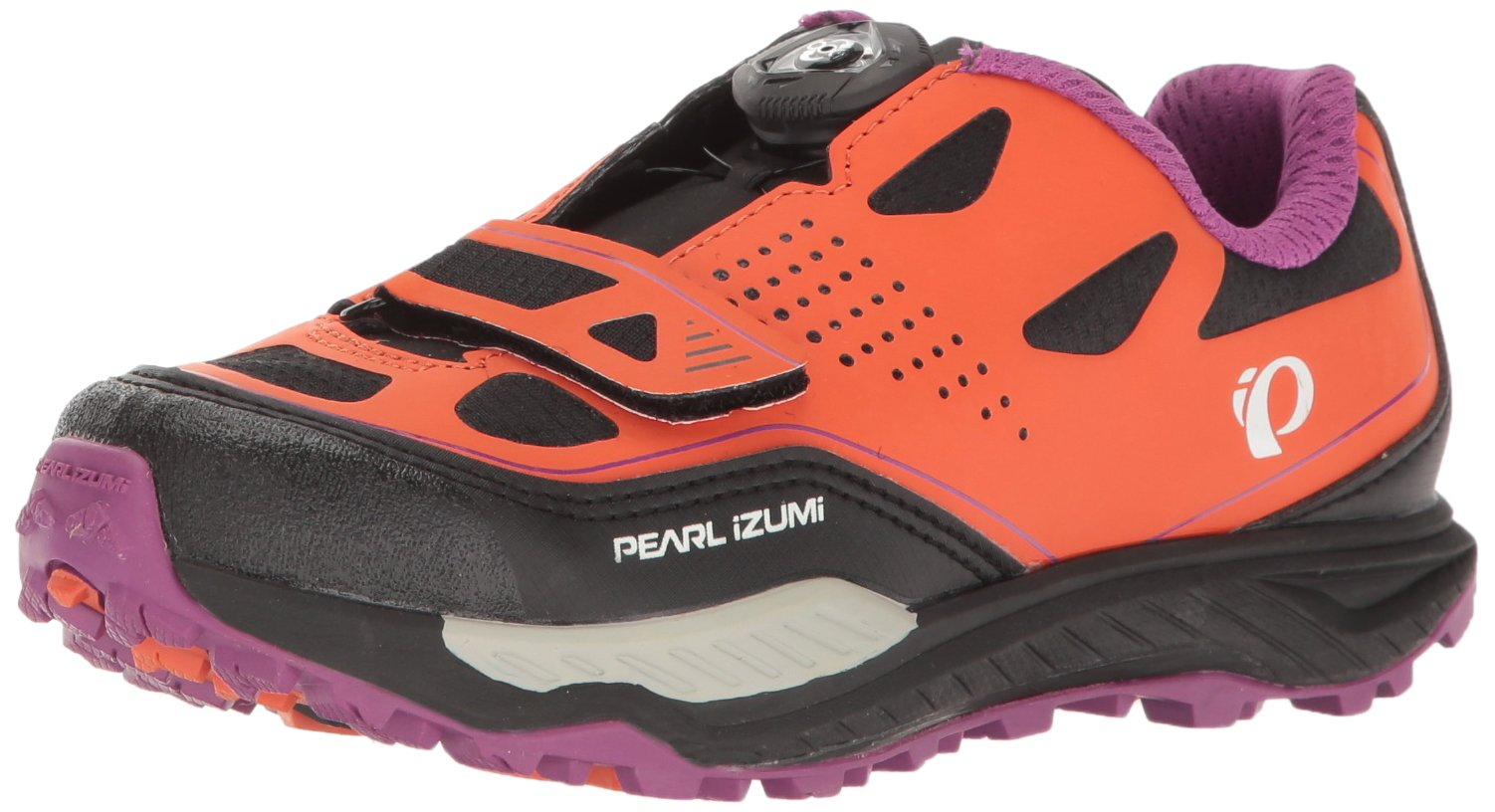 Pearl iZUMi Women's W X-ALP Launch II Cycling Shoe, Clementine/Purple Wine, 39 EU/7.59 B US