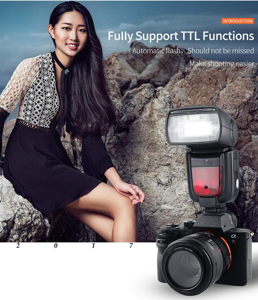 QYRL Flash Speedlite Portable Wireless Flash Trigger for Canon 70D//80D//6D//5D3//5D4//100D//1200D//600D Etc Digital Cameras
