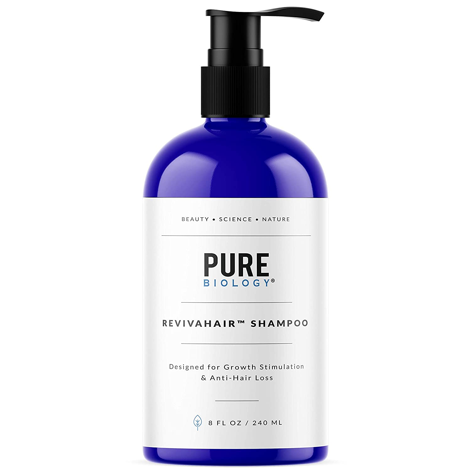 Premium Hair Growth Shampoo with Biotin, Keratin, Vitamins B + E, Natural DHT Blockers by Pure Biology