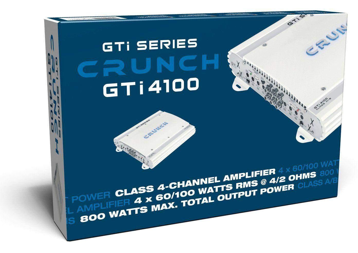 200/W, A//B, 0//–/12/DB, 100/W, 60/W, 200/W Crunch gti4100/Car Wired White Audio Amplifier/ /Audio-Verst/ärker