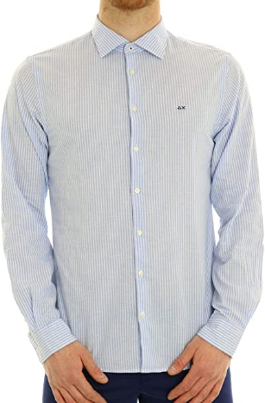 SUN68 Camisa de Rayas para Hombre: Amazon.es: Ropa y accesorios
