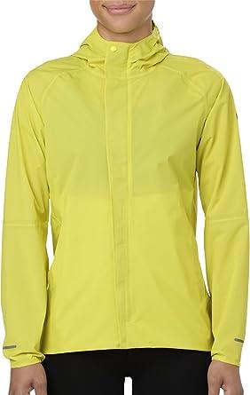 ASICS Waterproof Womens Running Jacket - Yellow-XS: Amazon.co.uk ...