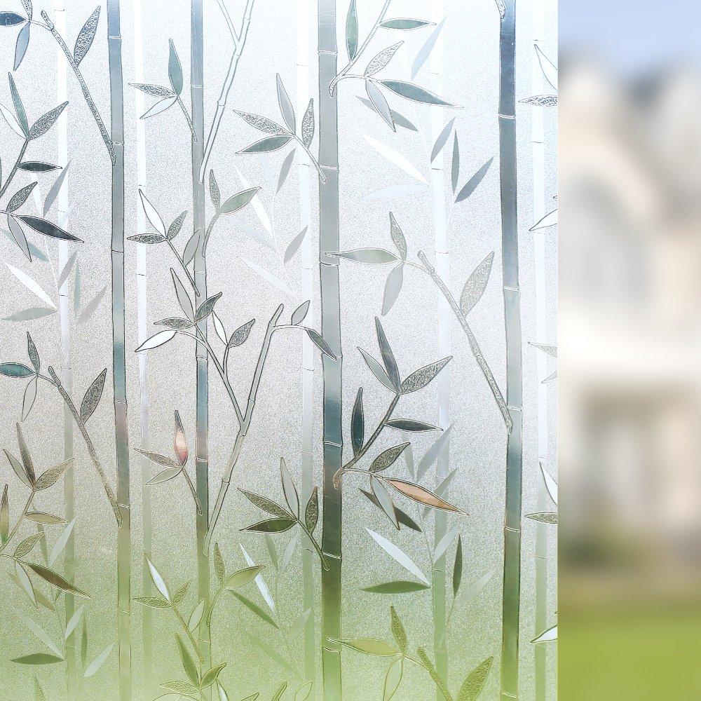 Rabbitgoo 3D Statisch Haftende Fensterfolie Dekorfolie