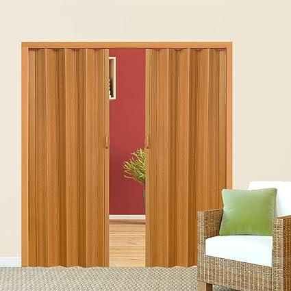 TecTake Puerta plegable de plástico 80 x 203 cm, PVC Puertas plegables, Puerta corredera - disponible en diferentes colores - (Nogal | no. 400958): Amazon.es: Bricolaje y herramientas