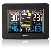 FanJu FJ3365 Digital Weather Station Color Forecast with Indoor Outdoor Temperature and Humidity | Barometer| Moon Phase…