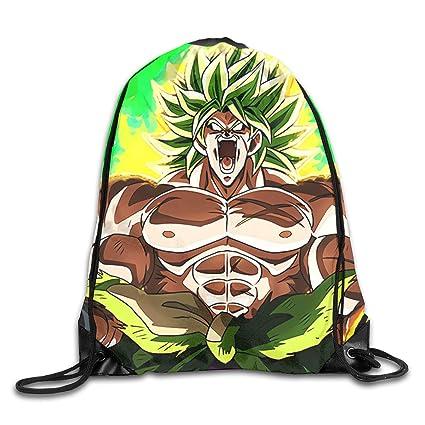7da939a5d4eb Amazon.com: WSXEDC Drawstring Bag Dragon Ball Super Broly Rage ...