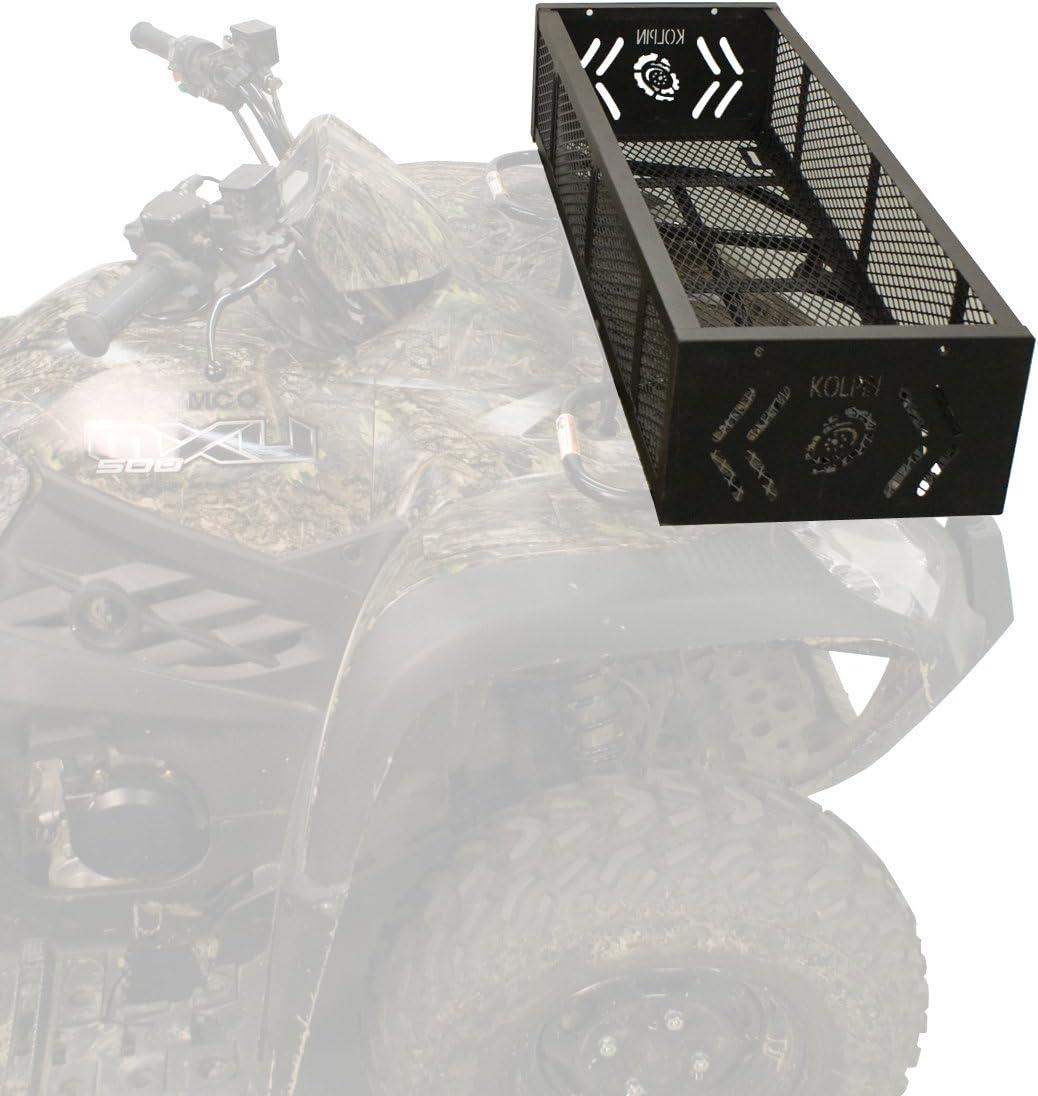 Kolpin ATV Rack Trail Storage Gear Tool Box Heavy Duty Cargo Basket Front Rear