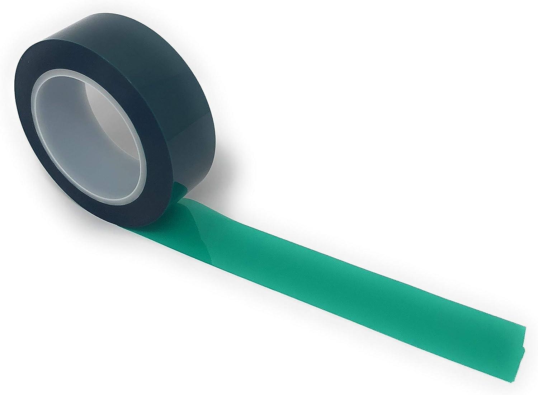 Powder Coating 1 Green Polyester Tape 30mm x 66m High Temp Masking Tape