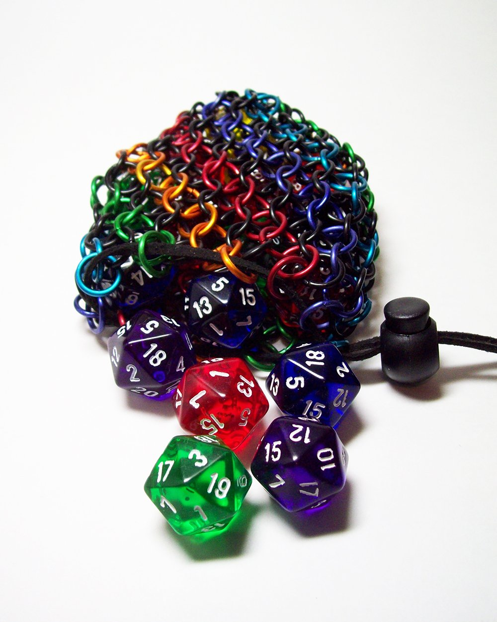 dicebag, dice bag, dice pouch, coin pouch, chainmaille, chainmail, chainmaill dice bag
