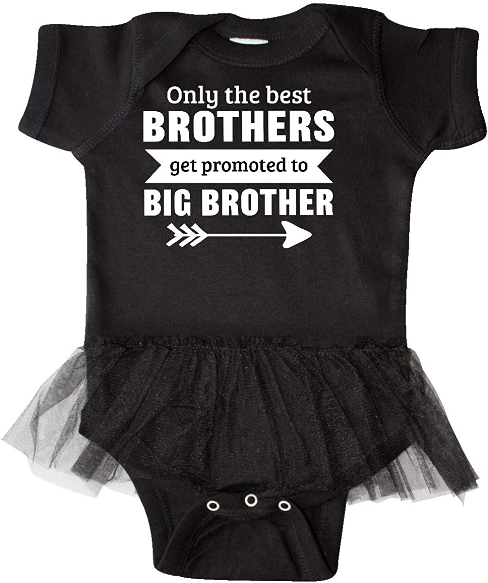 inktastic Only The Best Brothers Get Promoted to Big Infant Tutu Bodysuit