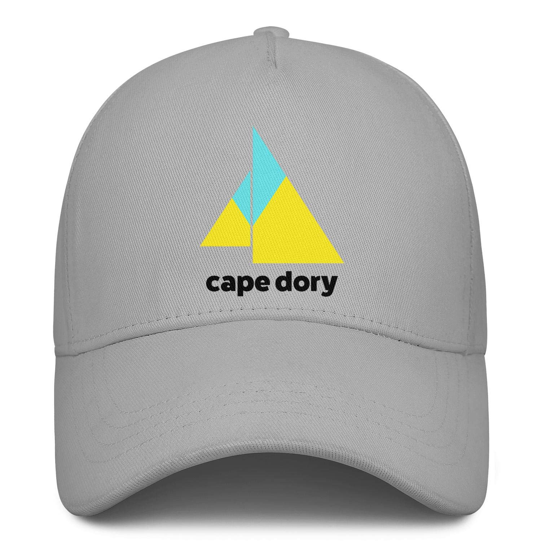 Adjustable Mesh Back Trucker Cap Sun Hat Young Women Men Baseball Cap Relaxed Messy Cape-Dory-Yachts-Logo