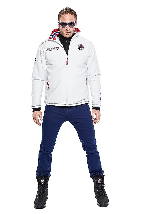 Nebulus Softshelljacke Maestro Fur - Chaqueta de esquí para niño, color blanco, talla 2XL