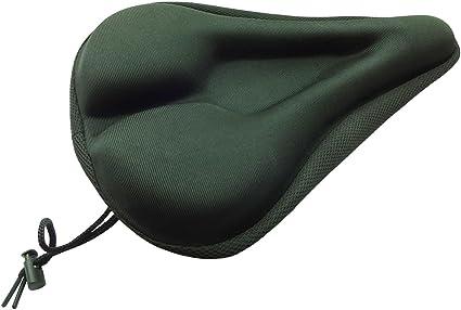 Bike 3D Soft Saddle Bicycle Seat Cushion Cover Adjustable Drawstring Black