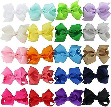 """Toddler  Satin Hair Bows Lot 18-3/"""" Girls"""