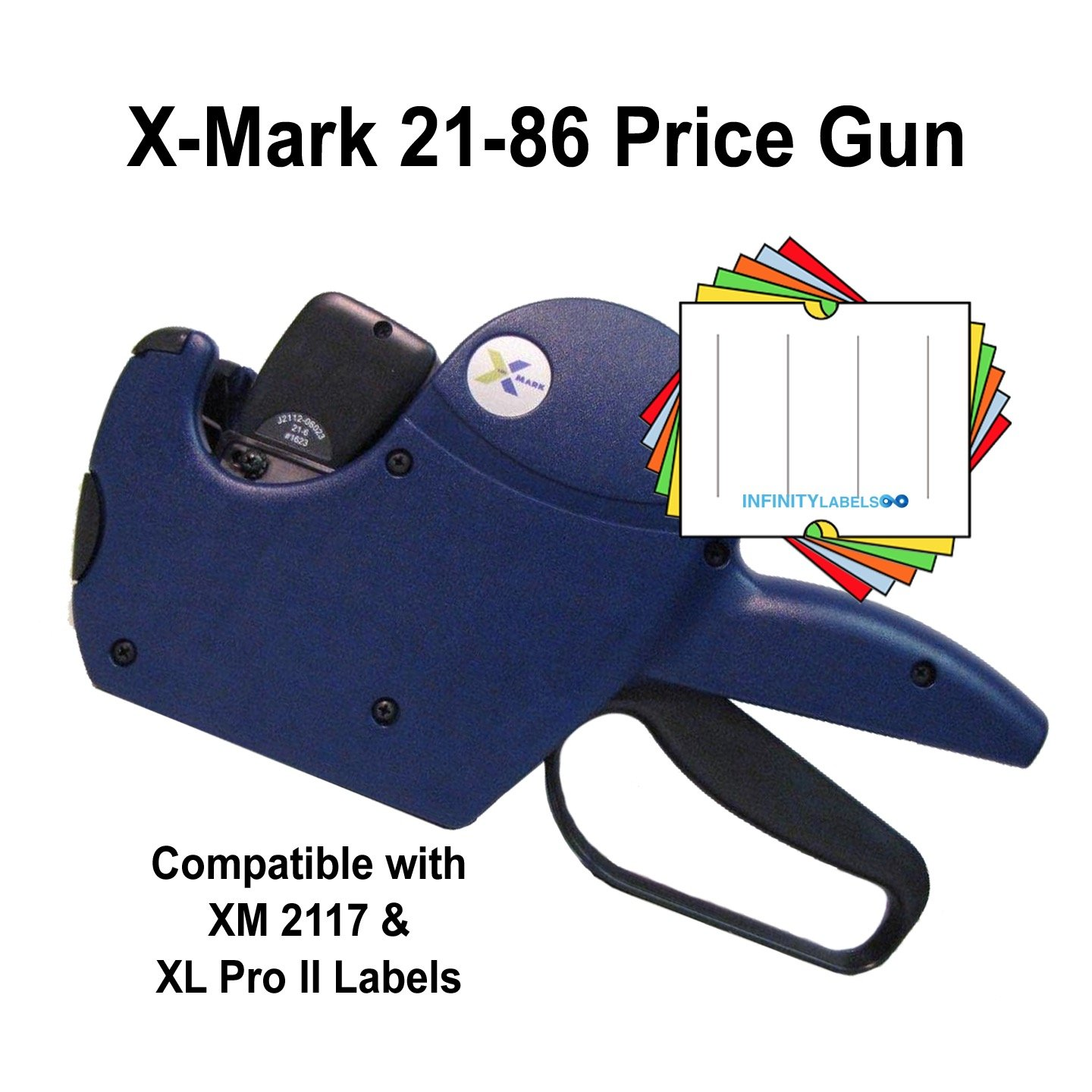 X-Mark Price Guns (10): TXM 21-86 Bulk PRICING [2 Line / 8/6 Characters] by Infinity Labels