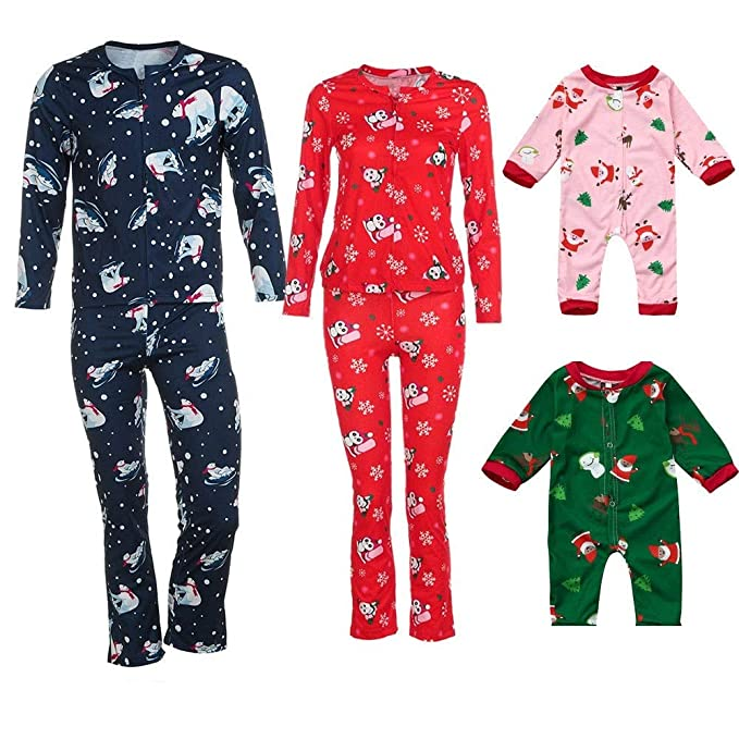 kehen family christmas pajamas soft cotton christmas pjs matching xmas new year holiday pj