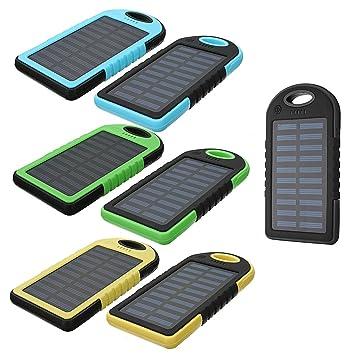 EsportsMJJ 5000mAh Externo Banco De Energía Solar Batería ...