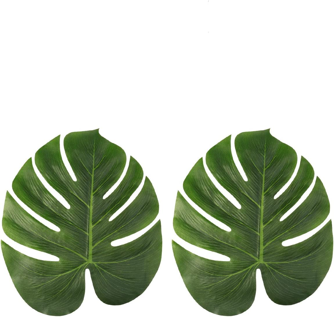 12pcs Artificial Palm Leaves Hawaiian Luau Party Jungle Beach Theme Party Decor