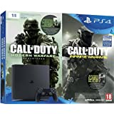 Pack Console PS4 1 To Slim + Call of Duty : Infinite Warfare (code de téléchargement) + Modern Warfare Remastered (code de téléchargement)