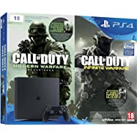 Pack Console PS4 1 To Slim + Call of Duty : Infinite Warfare (code de téléchargement) + Modern Warfare Remastered (code de téléchargement)