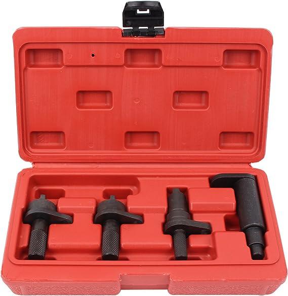 Cclife Motor Einstellwerkzeug Benzin Nockwellen Schwungrad Arretierung Steuerzeiten Werkzeug Kompatibel Mit Vag Seat Skoda Vw 1 2l 6v 12v Auto