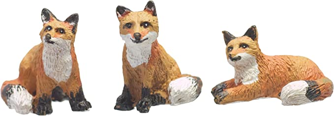 "FOX Cub Sitting Figurine New in Box Poly Stone 3/"" High Wild Animal"