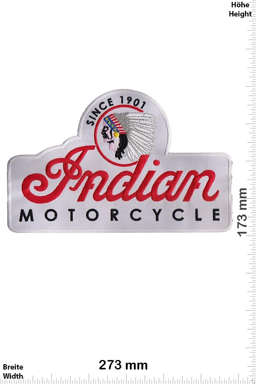 Indian Motorcycles- Since 1901 Bigpatch 27 cm White zum aufb/ügeln Motorsport Motorsport Aufn/äher Iron On Patch Indian
