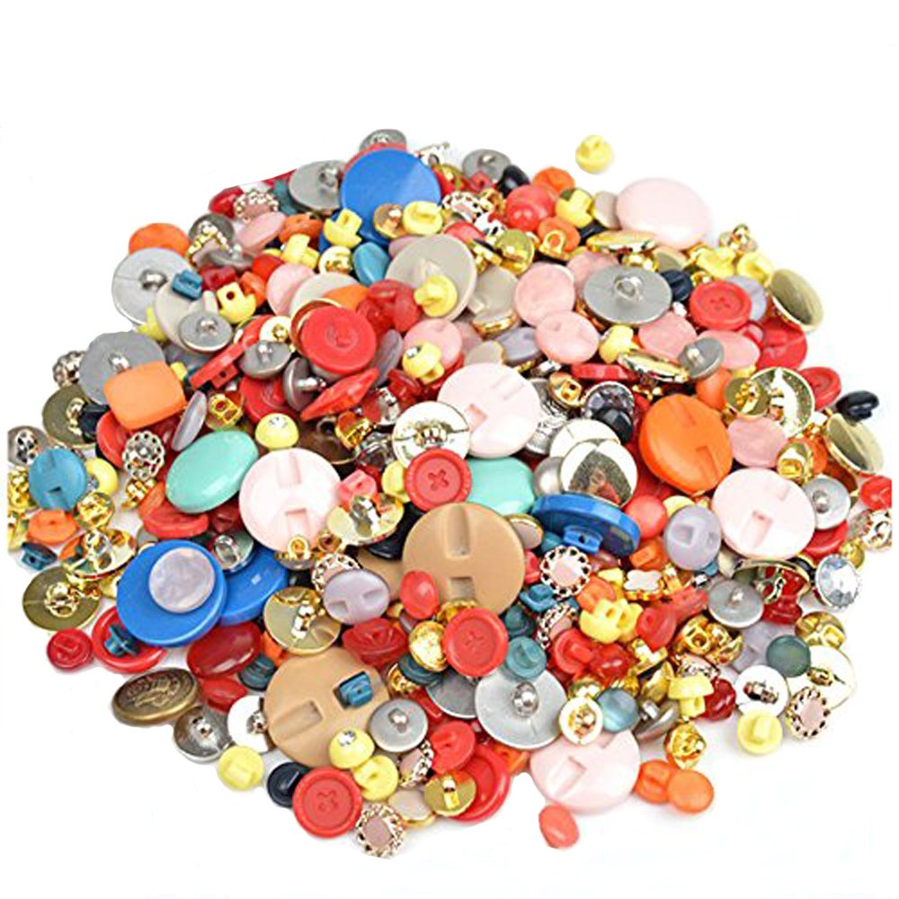 600 PCS Lot Mix Color DIY Round Resin Buttons for Sewing DIY Crafts Children's Manual Button Painting, DIY Handmade Ornament Haawooky 4337004474