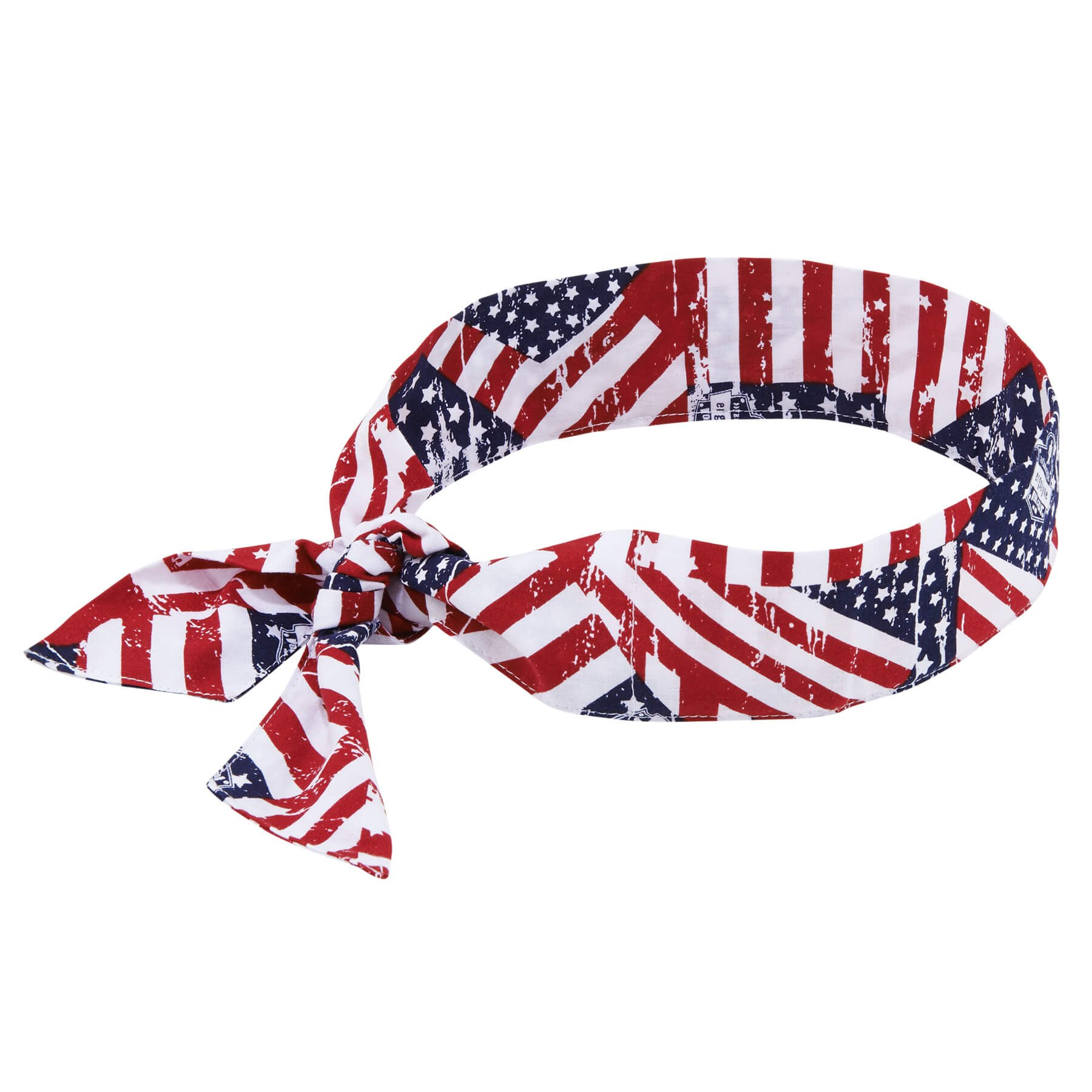 Ergodyne Chill-Its 6700 Evaporative Polymer Cooling Bandana - Tie Closure, Stars and Stripes