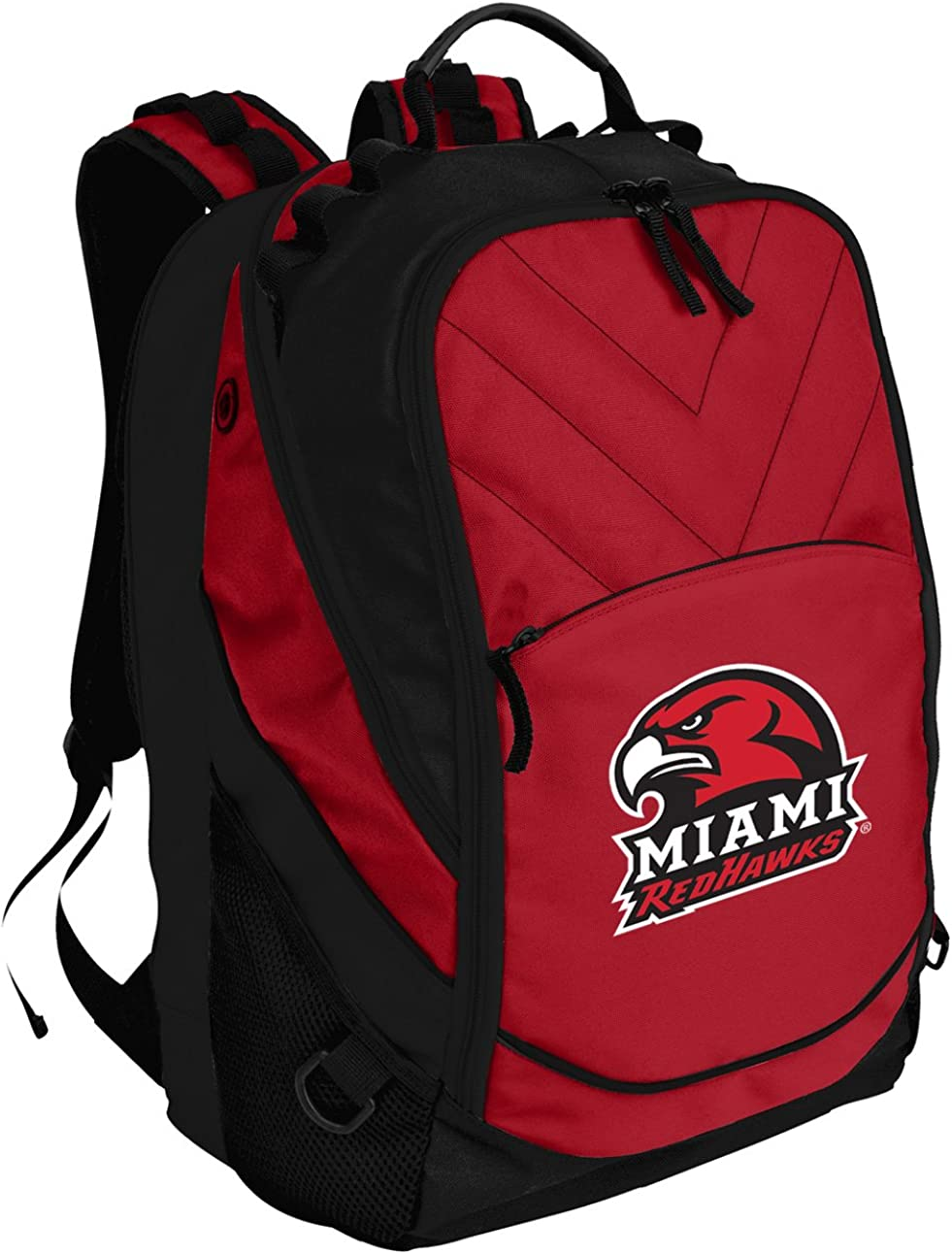Broad Bay Miami Redhawks Backpack Red Miami University Laptop Computer Bags