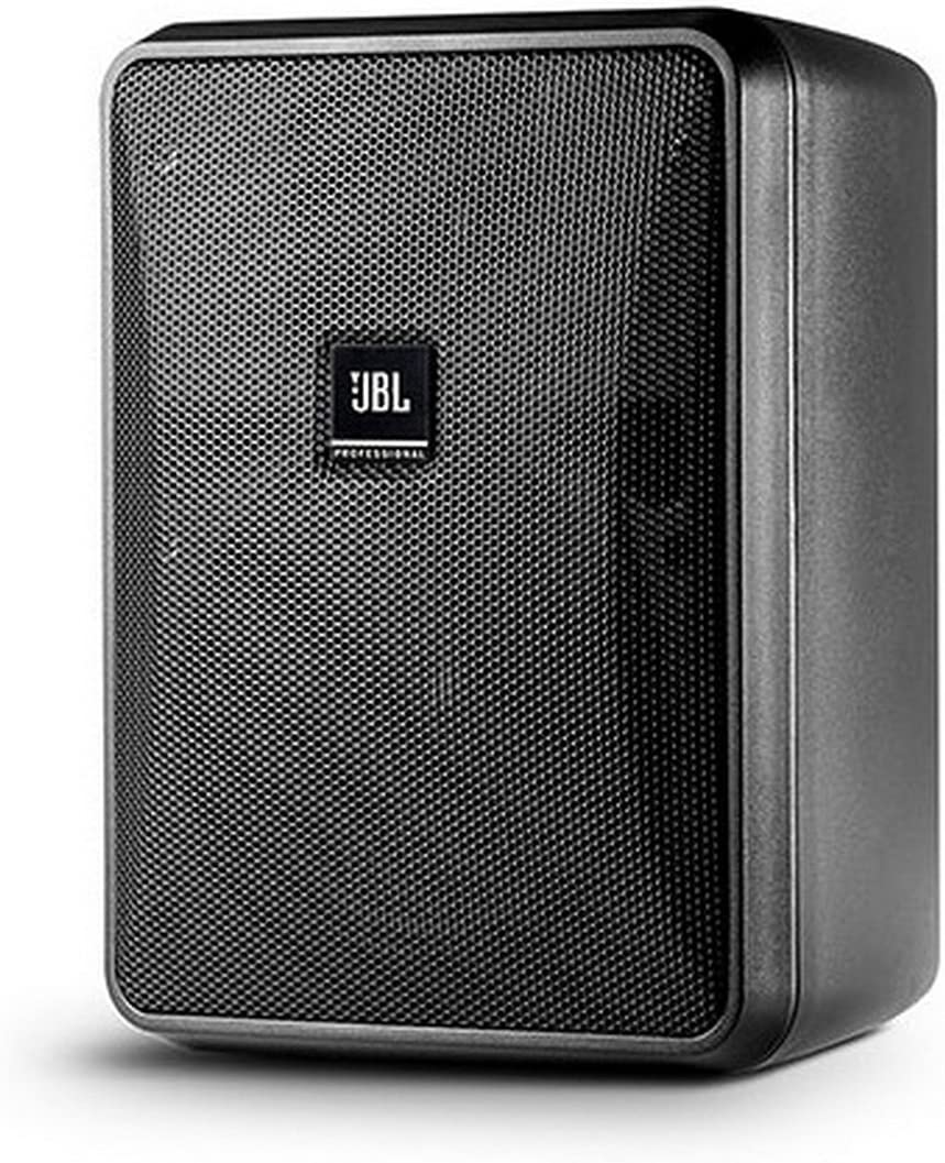 JBL Professional Compact 8-Ohm Indoor/Outdoor Background/Foreground Speaker, Black, Sold as Pair