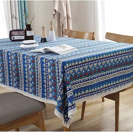 orange pink blue square tablecloth cotton 53 inch overlay kitchen cloth patio decor Tablecloth vibrant yellow